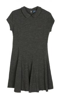 Шерстяное платье с короткими рукавами Polo Ralph Lauren