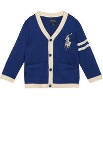 Хлопковый кардиган с контрастным кантом Polo Ralph Lauren