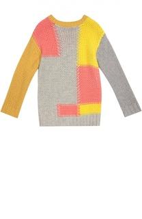 Шерстяной свитер с геометричным принтом Stella McCartney