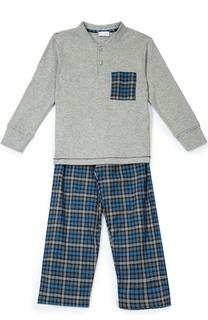 Хлопковая пижама в клетку Grigioperla