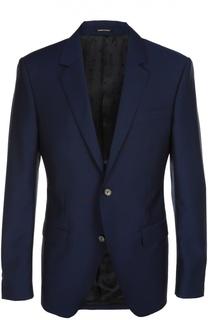 Шерстяной однобортный пиджак Alexander McQueen