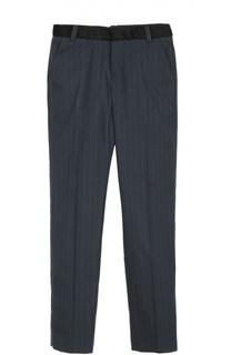 Шерстяные брюки прямого кроя в полоску Marc Jacobs