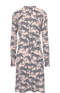 Платье прямого кроя со звериным принтом Dries Van Noten