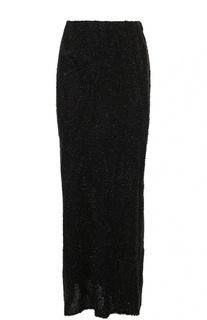 Вязаная юбка-макси с декоративной отделкой Dries Van Noten