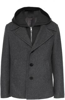 Шерстяная куртка с подстежкой и капюшоном Neil Barrett