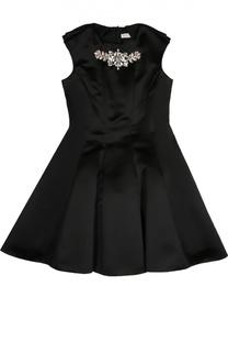 Приталенное платье с декоративной отделкой David Charles