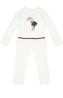 Пижама с контрастным принтом La Perla