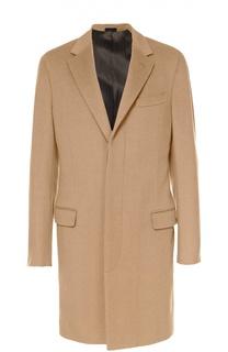 Шерстяное однобортное пальто с потайными пуговицами Lanvin