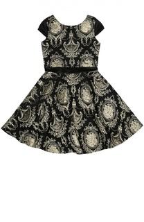 Приталенное  платье с фактурной отделкой David Charles