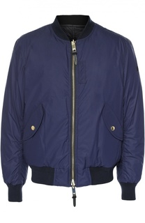 Пуховая куртка-бомбер на молнии Burberry Brit