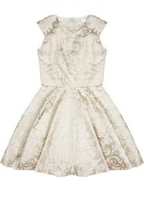 Приталенное платье с металлизированной отделкой David Charles