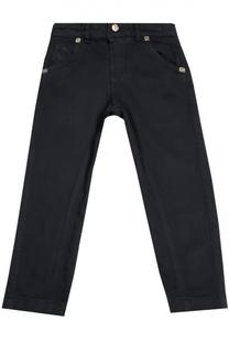 Хлопковые брюки прямого кроя с вышивкой Billionaire