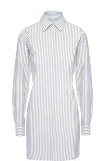 Удлиненная блуза свободного кроя в полоску Dries Van Noten