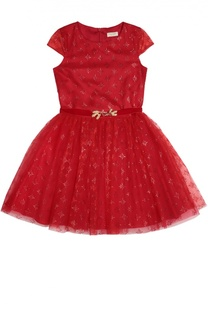 Платье с пышной юбкой и декоративной отделкой David Charles