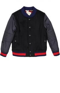 Куртка с принтом на подкладке Gucci