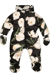 Комбинезон с цветочным принтом Dolce & Gabbana