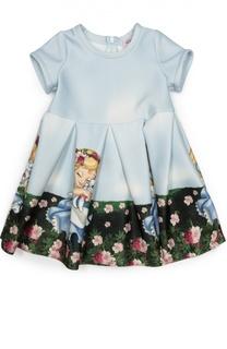 Платье джерси с принтом Monnalisa