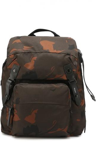 Рюкзак с камуфляжным принтом и отделкой из натуральной кожи Lanvin