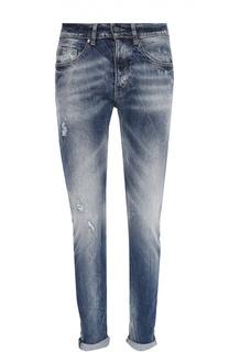 Зауженные джинсы с потертостями Frankie Morello