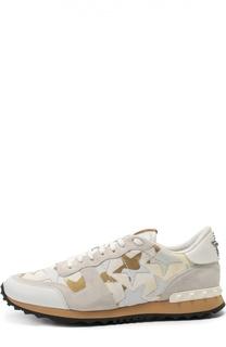 Комбинированные кроссовки Rockrunner Camustars Valentino