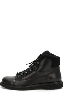 Высокие кожаные ботинки на молнии Ermenegildo Zegna