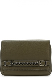 Кожаный клатч Iggy с декоративным ремешком Diane Von Furstenberg