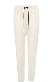 Шелковые брюки с контрастными лампасами и эластичным поясом Burberry