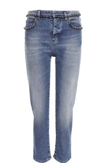 Укороченные джинсы с декоративной отделкой No. 21