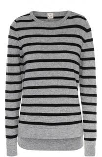 Пуловер в полоску прямого кроя с круглым вырезом FTC
