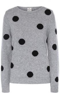 Пуловер прямого кроя с круглым вырезом и принтом FTC