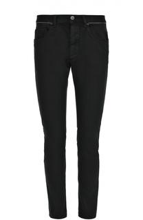 Зауженные джинсы с контрастным кантом на поясе Frankie Morello