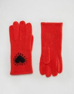 Перчатки с сердечками Alice Hannah - Красный