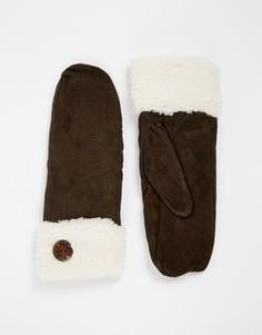 Totes Shirpa Cuff Mittens - Коричневый