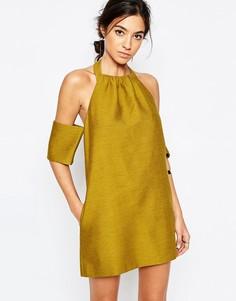 Платье цвета хаки C/meo Collective Perfect Lie - Зеленый
