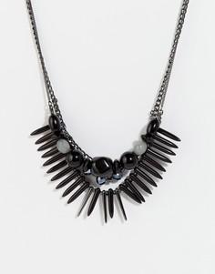 Эффектное ожерелье Pilgrim - Черный