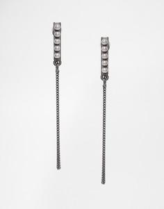 Серьги-подвески с искусственным жемчугом Pilgrim - Серебряный
