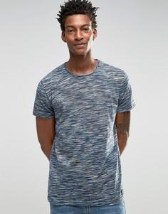 Меланжевая футболка !SOLID - Темно-синий