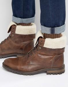 Ботинки на меховой подкладке и со шнуровкой Walk London Baker - Коричневый