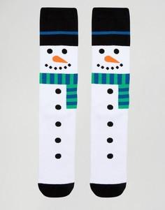 Носки-слиперы в рождественском стиле Urban Eccentric - Белый