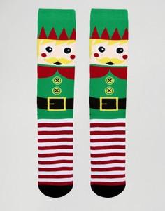 Носки-слиперы в рождественском стиле Urban Eccentric - Зеленый