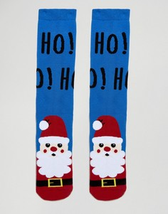 Рождественские носки-слиперы с Сантой Urban Eccentric - Синий