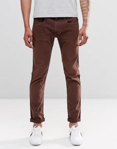 Коричнево-красные узкие джинсы Replay Anbass - Красный