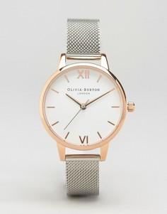 Часы из разных металлов с сетчатым ремешком Olivia Burton OB16MDW02 - Серебряный