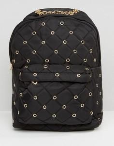 Стеганый рюкзак Yoki Fashion - Черный
