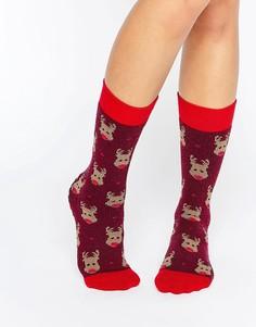 Носки с оленем Totes Christmas - Красный