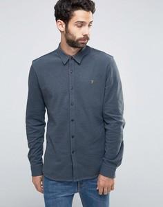 Рубашка слим на пуговицах из ткани пике Farah - Зеленый