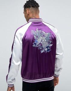 Куртка-пилот с вышивкой карпов Liquor & Poker - Фиолетовый