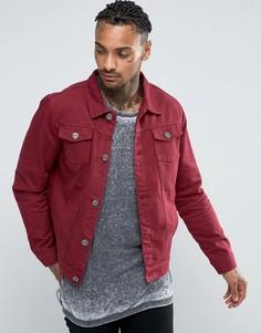Бордовая джинсовая куртка Liquor & Poker - Фиолетовый