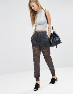 Кружевные брюки-галифе Ganni - Мульти