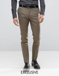 Строгие зауженные брюки Number Eight Savile Row - Зеленый